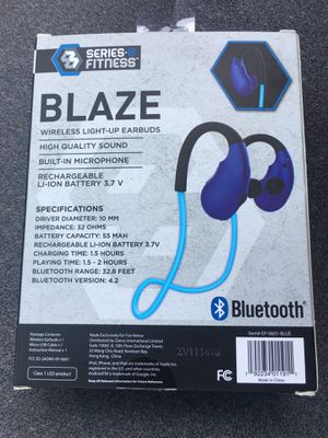 Series 8 Fitness Blaze Wireless Light-up Earbuds for Sale in Hollywood, FL