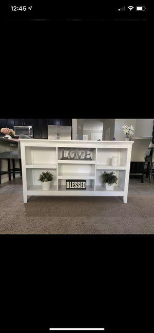 Horizontal bookcase white for Sale in Las Vegas, NV