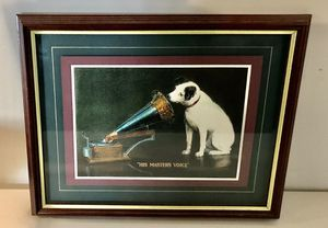 "Print - RCA ""Masters Voice"" Matted Print for Sale in Remington, VA"