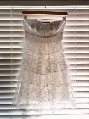 Little White Dress Satin Bow with Lace for Sale in San Diego, CA