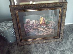 Absolutely beautiful picture with heavy duty frame for Sale in Salt Lake City, UT