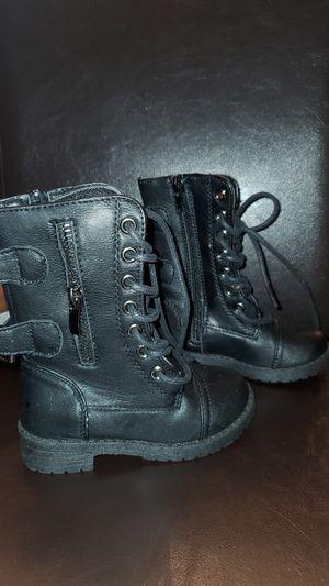 Little girls size 7 high black boots for Sale in Denver, CO