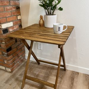 Outdoor Wooden Bistro Table for Sale in Culver City, CA