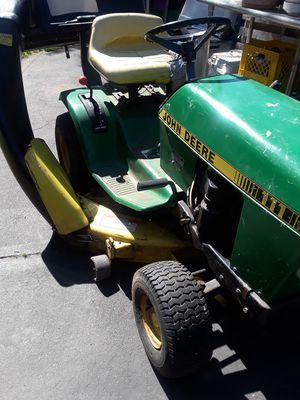John Deere riding mower, needs front tire, starter and possibly a battery $ 175 as is for Sale in Middleborough, MA