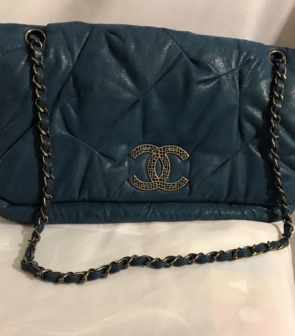 Authentic CHANEL Classic Iridescent Calfskin Shoulder Bag