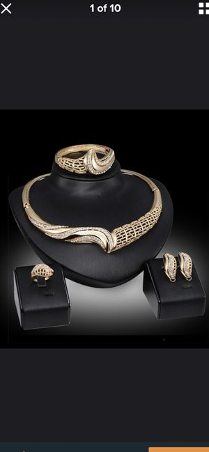 4 Pcs/set Fashion Jewelry Set 18K Gold Plated for Sale in Gainesville, VA