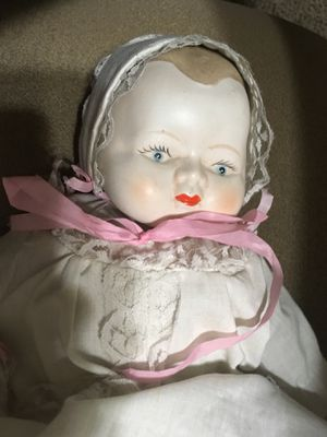 Vintage Handmade Doll with Christening Gown for Sale in Las Vegas, NV