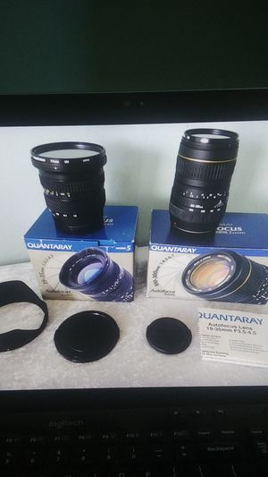 Two quantaray Minolta Sony Alpha camera lenses 100-300mm & 19-35mm f/3.5 - 4.5 for Sale in San Diego, CA