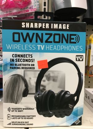 Sharper Image Ownzone Wireless TV Headphones for Sale in Spring, TX