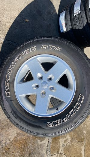 "2016 Jeep Wrangler 17"" wheels & tires for Sale in Gilroy, CA"