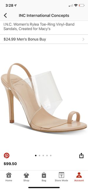 INC Women Rylea toe ring vinyl Band sandals for Sale in Anaheim, CA