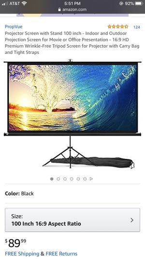 100 inch projector screen for Sale in Federal Way, WA