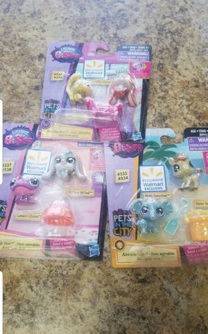 Mini little pet shop brand new all three for$ 10 for Sale in San Fernando, CA