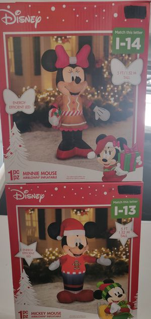 Mickey & Minnie Christmas yard inflatable for Sale in Ontario, CA