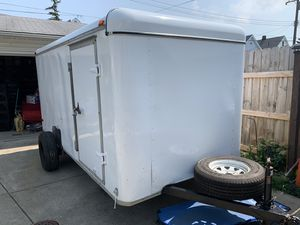 2000 Haulmark trailer 12ft x 6ft or trade for small van for Sale in Cleveland, OH