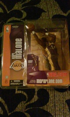 Los Angeles Lakers karl malone collector action figure for Sale in Nashville, TN