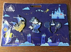Disney Minnie Mouse 3 Pin Set Peter Pans Flight EXCLUSIVE *IN HAND 2DAY SHIP* for Sale in Willow Grove, PA