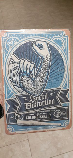Social Distortion Tin Sign for Sale in Rocky Face, GA