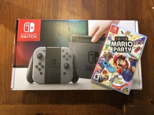 Like New Nintendo Switch with Super Mario Party for Sale in Indian Trail, NC