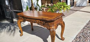 Console table with wood inlays. for Sale in Lake Elsinore, CA