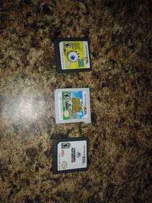 Nintendo 3Ds con cargadores y 3 juegos. for Sale in Miami, FL