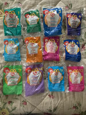 Never opened- 1999 McDonalds Beanie Babies set or 12 for Sale in Park Ridge, IL