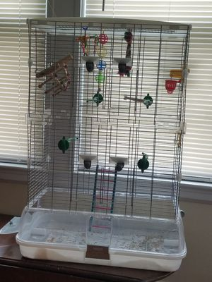 Bird cage with toys for Sale in Revere, MA