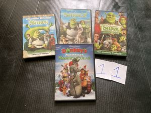 All 4 Shrek movies on DVD for Sale in Westerly, RI