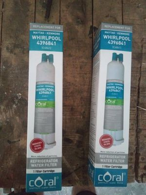 Whirpool refrigerator water filters (2) for Sale in New Braunfels, TX