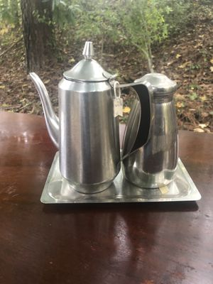 Antique Hospital pitcher & water bottle w tray for Sale in Villa Rica, GA