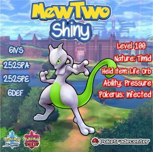 Pokémon Sword and Shield 6 IV Shiny Mewtwo w/Life Orb for Sale in El Paso, TX