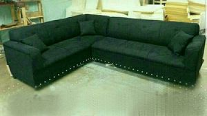 NEW 7X9FT BLACK FABRIC SECTIONAL COUCHES for Sale in LA CANADA FLT, CA