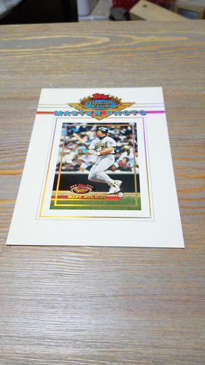 Baseball card- mark mcgwire master photo for Sale in West Stayton, OR