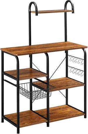 Kitchen Baker's Rack Utility Storage Organizer Workstation with 10 Hooks for Sale in Arlington, TX