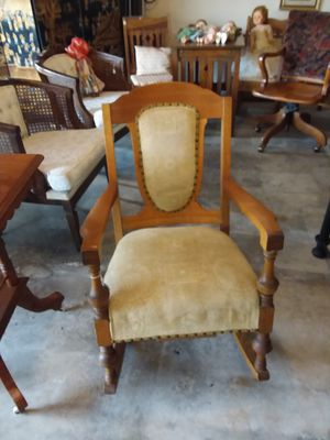 Antique Vintage Mission wooden hand made Coil spring rocking chair for Sale in Escondido, CA