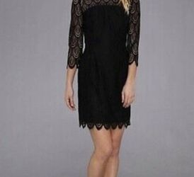 Lily Pulitzer - Black Lace, Scalloped Dress (Like New) for Sale in Nashville,  TN