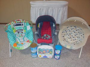Battery operated baby bassinet battery operated bouncers new Graco car seat New 2 Similac Advance formula 2new pure Bliss by Similac toddler drink for Sale in Wichita, KS