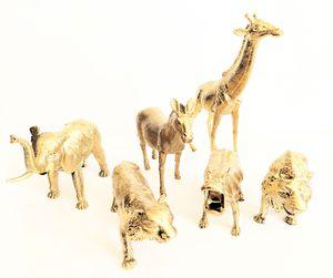 Gold Safari animals! Perfect nursery decor, kids room decor for Sale in Lawndale, CA