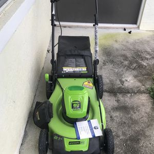 """New 21""""Greenworks Pro 60 volts lithium Max Electric Mower for Sale in FL, US"""