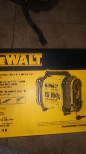 Delwalt corded and cordless air inflator for Sale in Phoenix, AZ