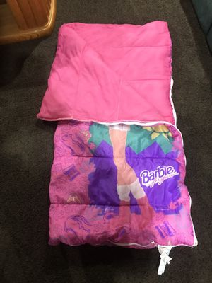 Kids girls sleeping bag Barbie for Sale in Gibsonia, PA