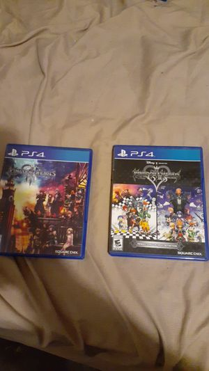 Kingdom hearts hd 1.5+2.5 remix and kingdom hearts 3 for Sale in Apache Junction, AZ