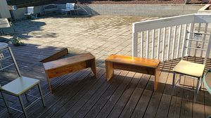 Two benches and two chairs for Sale in Gresham, OR