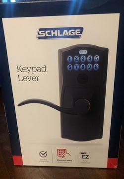 Schlage keypad lever door handle for Sale in Wichita,  KS