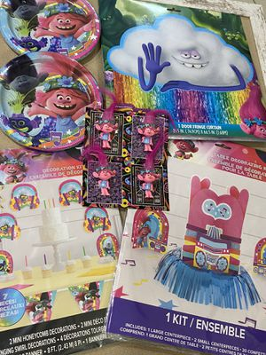 Trolls Party Decorations NEW for Sale in Miami Gardens, FL