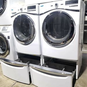WHIRLPOOL DUET WASHER WITH GAS DRYER🚩PEDESTALS INCLUDED🍬🍬 for Sale in Huntington Park, CA