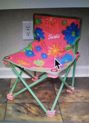Barbie Kid-Size Collapsible Chair for Sale in Red Hill, PA