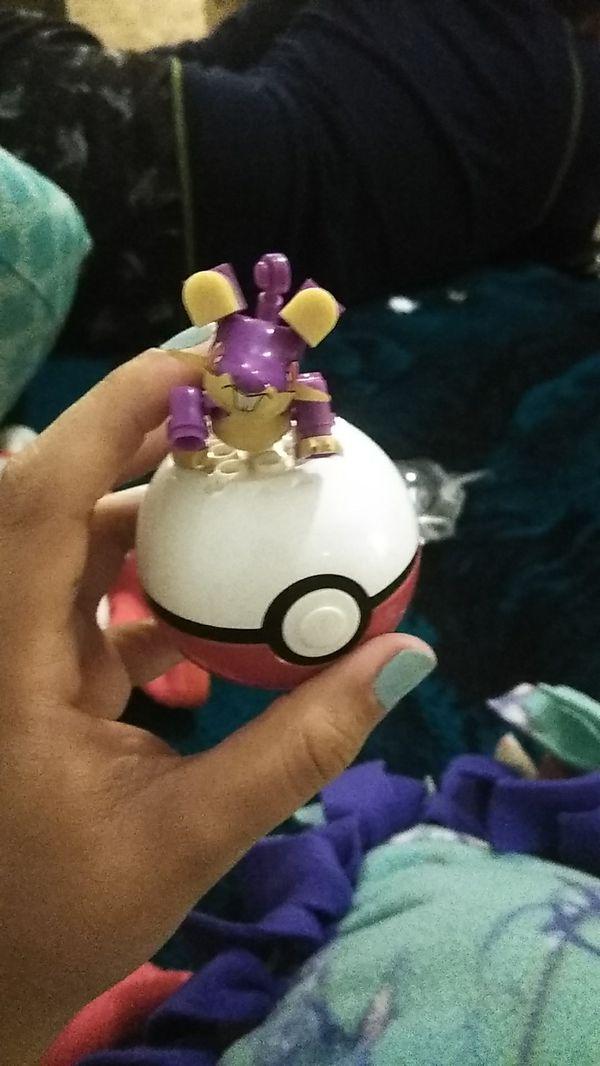 4 Pokemon Legos and balls
