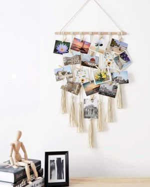 Brand new | Hanging Photo Display Macrame Wall Hanging Pictures Decor Boho Chic Home Decoration for Apartment Bedroom Living Room Gallery, with 25 Wo for Sale in Sparks Glencoe, MD
