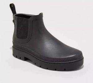 Universal Thread womens black ankle rain boots for Sale in Hialeah, FL